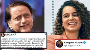 Kangana gives a fitting response to Shashi Tharoor on Twitter