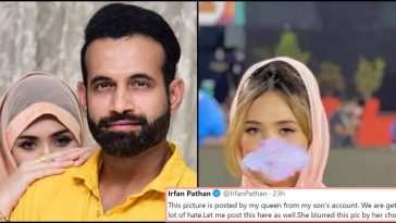 Irfan Pathan defends his wife's blurred picture, calls himself her 'mate not master'