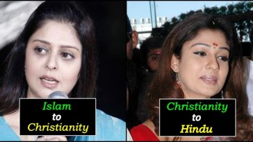 South Indian celebrities who converted to different religions for specific reasons