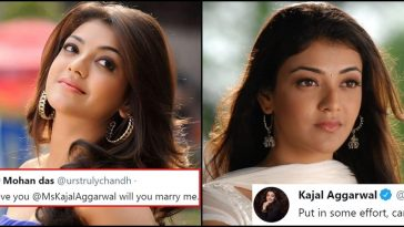 Kajal Aggarwal gives an apt reply to a fan's proposal on Twitter