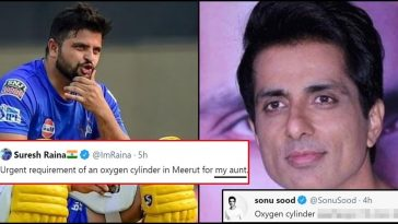 Suresh Raina reaches out asking for oxygen cylinder; Sonu Sood reacts!