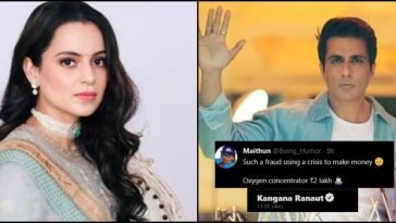 Kangana likes tweet calling Sonu Sood 'fraud', who is using a crisis to make money