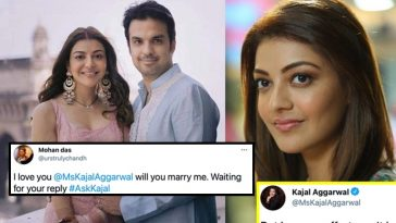 Kajal gives an apt reply to the fan who proposed to her