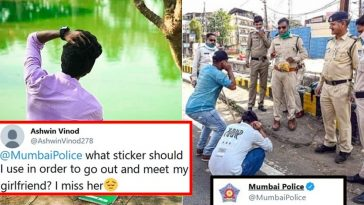 Mumbai police gave an EPIC reply to a Guy who wanted to meet his Girlfriend in Curfew