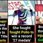 These female athletes never gave up and did their nation proud, let's praise them