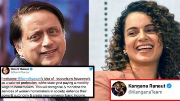 Shashi Tharoor gave many epic replies but for the first time, Kangana silenced him on Twitter