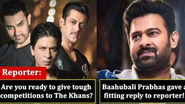 Prabhas was asked about competing with Khans; he gave an epic reply!