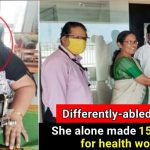 Grand Salute: Differently-abled woman stitches over 1500 masks for health workers