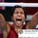 PM Modi congratulates boxer Lovlina on winning bronze, tweet goes viral