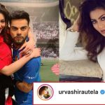 Urvashi gives an epic reply to a Fan who tried to troll her by comparing her to Kohli