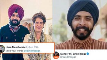 Tajinder Bagga gives a savage reply to a Guy who asked him to 'mind his words'