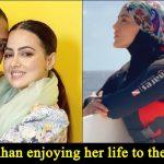 Amidst Taliban's terrorism in Afghanistan, Sana Khan goes Snorkeling Wearing Hijab