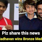 While SRK son is under-arrest in Drug case, Madhavan's son wins Bronze for India