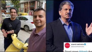 This is what Anand Mahindra said after Ola CEO posted pic from his visit to Bengaluru Cafe!!