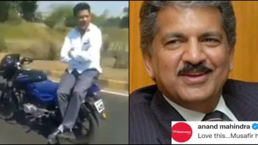 Anand Mahindra shares video of 'driverless bike', Twitter issues red flag