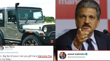 Funny guy asked Car on his Birthday; this is how Anand Mahindra tweeted